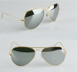 Wholesale High Quality Gold Frame mirror sun glasses New Fashion womens sunglasses Mens sunglasses new classic sunglasses mm glitter2009