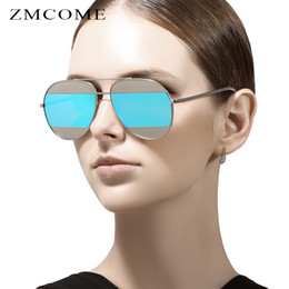 ZMCOME 2017 Fashion Women Sunglasses Metal Big Frame Frog Coating Mirror Men Sun Glasses Oculos De Sol UV400 Feminino