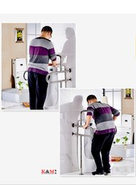 Factory Direct Sale Stainless Steel Wall Mounted Grab Bar Handicap Toilet Handle Safety Rails Toilet Rails For Elderly