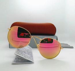 Les brunes en Ligne-Lunettes de soleil en verre de luxe de haute qualité de qualité 100% pour les femmes des hommes Marqueur lunettes de vue classiques UV400 de classique avec tout le cas brun