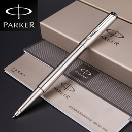 Silver Metal Parker Vector roller ball Pen 0.5mm medium nib Full metal rollerball Pen Business Office Supplies