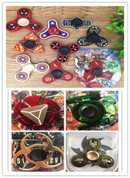 Aluminum Finger Gyro,US Captain,Iron Man and Anime Movie Heroes Collection, Children Rotating Toys Autism ADHD and Relieving Anxiety ToysDHL
