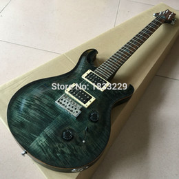 Descuento guitarras llama roja Guitarra eléctrica hecha a mano al por mayor-Estilo del cuerpo P de la tapa de la llama, encuadernación de madera, SUPER RARO-SUPER RARO, de calidad superior, venta al por mayor al por menor