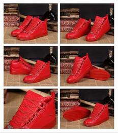 """Франция человек для продажи-Франция Делюкс марка Red Crozzling Удобные кроссовки неподдельной кожи мужские """"Повседневная мода обувь мужчин обуви Квартиры"""