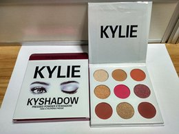 Wholesale In stock New arrival THE BURGUNDY PALETTE Kylie Cosmetics Jenner Kyshadow eye shadow Kit Eyeshadow Palette Bronze Cosmetic Colors
