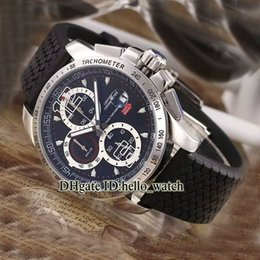Wholesale Super Clone Brand Miglia Classic Racing Superfast GT XL CHRONO Quartz Chronograph Mens Watch Black Dial Rubber Cheap Watches
