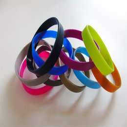 Wholesale Mix Colors mm Solid Color Silicone Bracelets Rubber Sport Wristband Cuff Bracelet Wrist Band Best Friends Jelly Silicone Bracelet