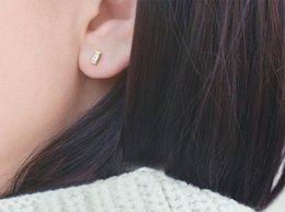 Simple Imitation Diamond Earring 925 Silver Emerald cut Zircon