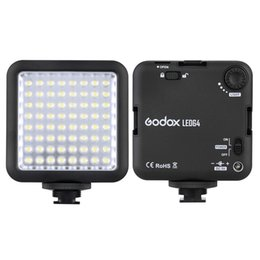 Grossiste-Godox 64 LED Vidéo Light pour DSLR caméra Mini DVR comme lumière de remplissage pour le mariage Nouvelles Interview Macrophotography à partir de nouvelles vidéo fabricateur
