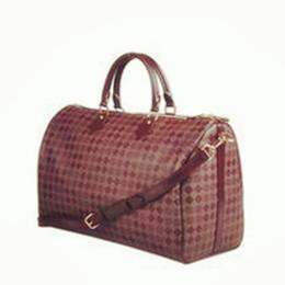 Top quality women genuine Leather Keepall luggage handbag travel tote strap bag 45,50,55, 60cm to buy