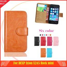 Mini-roches en Ligne-Nouveau Arrrive 6 couleurs DEXP Ixion X245 Rock mini cas de téléphone Dedicated Housse de protection en cuir Case SmartPhone avec Tracking