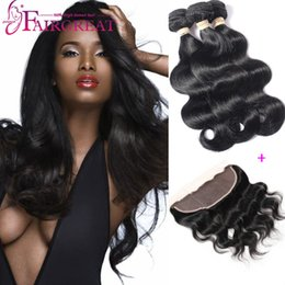 Wholesale Body Wave Brazilian Virgin Hair With Lace Frontal Closure Bundles Human Hair Bundles With Lace Frontal Closure A lace frontal Closure