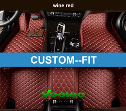 Veeleo Custom Fit - 6 Colors Leather Car Floor Mats for Lexus All Series Waterproof Anti-slip 3D Car Mats Front & Rear Carpets