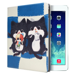 For ipad 2 3 4 case, cute cat open wake-up cover dormant drop flat protection shell ipad 2 3 4 case cover