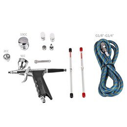 SP166AK Gravity Feed Single Action Trigger Airbrush Kit 0.2mm 0.3mm 0.5mm Needle Air Brush Spray Gun Paint Art Air-Paint Control Car Decor