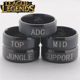 Anime Jeux en ligne Ring LOL Around Ring ADC TOP MID JUNGLE SUPPORT 17/19 Bague en métal à partir de jeux jungle fabricateur