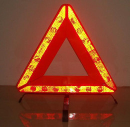 Wholesale Best Selling Roadway Safety Warning Triangles Car Safety Reflective Warning Triangle Highway Emergency Tripod Breakdown Warning Sign Stand