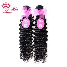 "Queen hair products brazilian curly virgin hair extensions mixed length 12""-28"" 2 pcs lot free shipping queen deep wave hair"