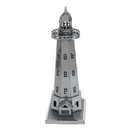 Wholesale Light House D Metal Puzzle DIY Assembly Tower Model Kids Toys Architecture Building Jigsaw Puzzle Children s Gift