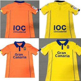 Wholesale 2017 Las Palmas Soccer Jersey Las Palmas Soccer Jerseys Home Yellow Away Orange Football Shirts Thai Quality Jeresys