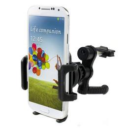 Vent mount gps à vendre-Support rotatif de 360 degrés universel de voiture Support de support de vent d'air pour Iphone 5 5S S5 S4 Samsung s3 s4 s5 Support de téléphone mobile de GPS