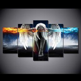 Купить Онлайн Аниме искусство-HD Печатный анджелес девушки аниме демоны Картина Печать холст для спальни украшения Современные абстрактные картины декора стены искусства