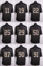 Wholesale Men Anthracite Salute to Service KCC Alex Smith Jeremy Maclin Marcus Peters Jamaal Charles Eric Berry Jerseys