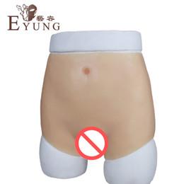 Tight waist silicone vagina underwear for crossdresser High imitation pussy briefs male to female crossdressing props drag queen