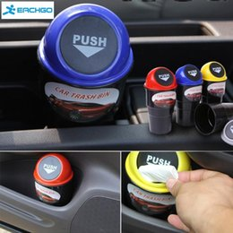 Wholesale New Car styling Convenient Mini Auto Car Home Trash Rubbish Can Garbage Dust Case Holder Box Bin Dustbin Dropping Shipping