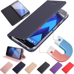 Ultra Slim Magnetic Leather Wallet Flip Case Cover Skin Protective Shell For Samsung Galaxy S8 S8 Plus S7 S6 S5 A3 A5 A7 J3 J5 J7 2017
