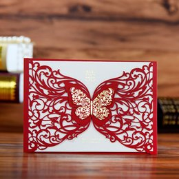 Wholesale Hollow paper invitations candy boxes customized products to design custom time for about a week