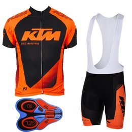 2017 New KTM team pro Cycling jersey bib shorts set fluor summer Sportswear Mountain Bike clothing Ropa Ciclismo MTB Bicycle Wear DBA15