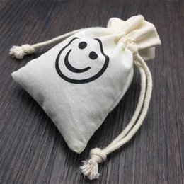 Cute Design Cotton Linen Gift Bags For Wedding And Festive Party Supplies Jewelry Packaging Pouches Small Gift Bags