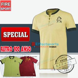 Wholesale Best Thailand Quality Mexcio Club America Retro year s soccer Jersey Home Yellow Away Red O PERALTA football Shirt