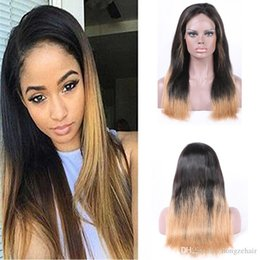 Silky Straight Brazilian Virgin Hair Full Lace Human Hair Wigs 130-150 Density With Baby Hair Natural Hairline 6-24 Inch T1B613