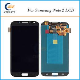 LCD For Samsung Galaxy Note 2 N7100 N7102 N7108 N719 N7105 L900 I605 LCD Touch Screen Digitizer Display with Frame Assembly Grade Original