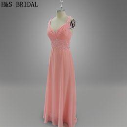 Light Pink Chiffon V Prom Dresses Long Elegant Halter Beading Formal Evening Dresses Girls Party Gowns 026