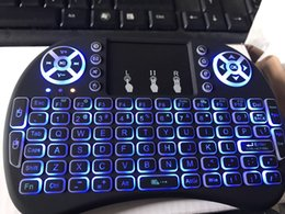 Wholesale Mini Wireless Backlit Keyboard i8 GHz Gaming Air Mouse English Clavier Gamer With Touch Pad for Xiaomi TV Box xbox360
