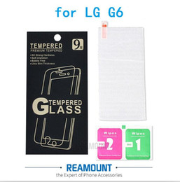 9H Explosion Proof Premium Tempered Glass Screen Protector Film for LG G6 Anti-shatter Protective Screen with Cleaning wipes + Paper Box