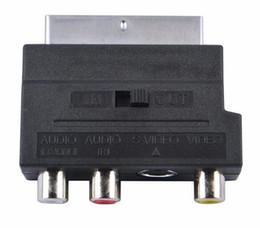 S audio vidéo hdmi en Ligne-RGB Scart to Composite 3 RCA S-Vidéo AV TV Audio Adaptateur Convertisseur Scart to RCA