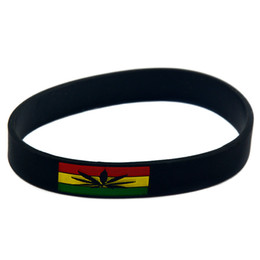 Wholesale 100PCS Lot Jamaica Spirit Silicone Wristband Flexible And Strong. Wear This Bracelet To Show Your Difference