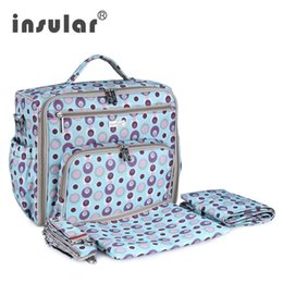 Wholesale Insular Diaper Backpack Bag for Wheelchairs Fashion Brand Bags for Mom Large Capacity Baby Stroller bag with Accessories