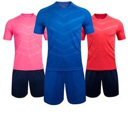 2017 new men's men blank soccer jerseys sets adult plain football suits men trainning kits sports suits short sleeve running uniforms