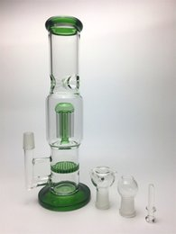 "13""Cheap water pipe heady glass bong glass water pipes with arm tree percolator and honeycomb three color available"