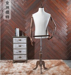 Wholesale FreeShipping body female mannequin paspop voor kleding flexible mannequin display Antique n red wood color have base wood rack M00406A