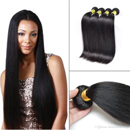 Wholesale Straight Human Hair Wefts Bundles Brazilian Peruvian Malaysian 8A Unprocessed Virgin Hair Extensions 4 Bundles Soft and Dyeable