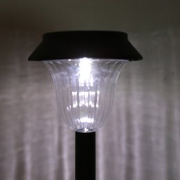 Voies d'aménagement paysager à vendre-Vente en gros- Fantastic 2 Pieces Solar Powered LED Lampe de sécurité extérieure sans fil terrestre Paysage Lumière Lampe de pelouse Garden Patio Pathway Yard