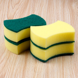 Wholesale Two Face Household Cleaning Tools Sponge Pads Soft Kitchen Cleaning Used Scouring Pads For Dish Washing Items