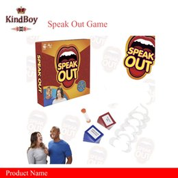 Wholesale 2017 Speak Out Game For Baby Boys and Girls Interesting Family Party Speak Out Board Games Baby Toys Hot Selling