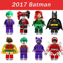 Wholesale 8pcs PG8032 DC Batman Super Heroes Minifigures Joker Harley Quinn Robin Poison Ivy Calendar People Building Blocks Models Toys